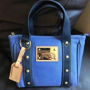 Authentic Louis Vuitton Antiqua Cabas PM blue